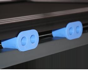 OXYGEN TESLA TFT HRC Беговая дорожка - Система динамических ультрамягких подушек dualFLEX™
