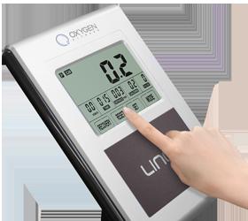 OXYGEN LINER Велотренажер - Черно-белый LCD дисплей c сенсорным управлением (Touch Screen)