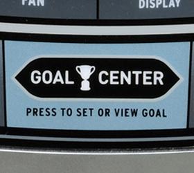HORIZON ENDURANCE 4 (2013) Эллиптический эргометр - Дата-центр Goal Center™ позволяет накапливать тренировочные данные и оценивать их без использования бумажных графиков или дневников