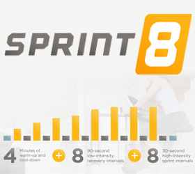 VISION S7100 HRT (2012) Эллиптический тренажер - Программа Sprint 8™ от гуру американского фитнеса Фила Кэмпбэлла