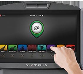 MATRIX T1XE VA (2013) Беговая дорожка - 16-ти дюймовый сенсорный (FitTouch™) цветной мультимедийный TFT-LCD Vista Clear™ дисплей
