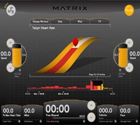 Matrix E7XI (E7XI-03) Эллиптический эргометр - Элемент пользовательского программного интерфейса