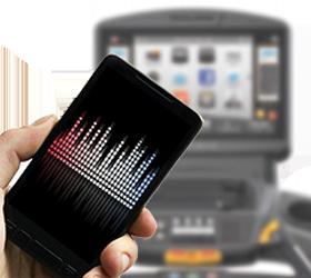 Matrix E7XI (E7XI-03) Эллиптический эргометр - Синхронизация видео- и аудио-файлов с большинством современных планшетов и смартфонов