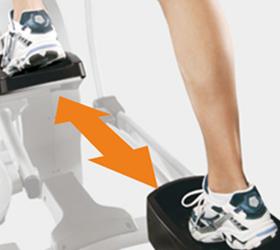 Длина шага 508 ммоптимальна для эффективной тренировки пользователя среднего уровня