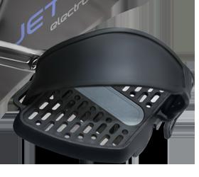 OXYGEN JET STAR Велоэргометр - Антисклользящие педали с регулируемыми ремешками