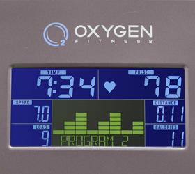 OXYGEN GX-65 Эллиптический эргометр - Цветной LCD дисплей