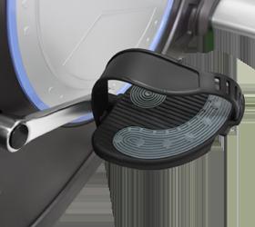 OXYGEN SATORI RB HRC Велоэргометр - Трехкомпонентный педальный узел и рифленые педали с регулируемыми ремешками