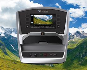VISION TF20 TOUCH Беговая дорожка - Виртуальный ландшафт Virtual Active™ (видео ролики воспроизводятся на консоли и не требуют дополнительного оборудования)