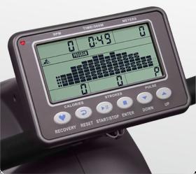 OXYGEN TYPHOON HRC Гребной тренажер - Черно-белый LCD дисплей диагональю 5.5 дюйма (14 см.) с профилем тренировки
