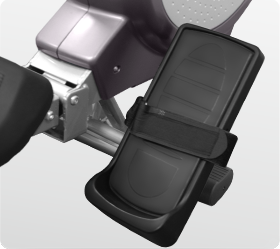 OXYGEN TYPHOON HRC Гребной тренажер - Большие педали с фиксирующими ремешками