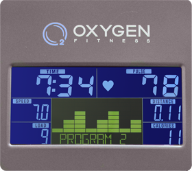 OXYGEN NEXUS GURU UB HRC Велоэргометр - Цветной LCD дисплей