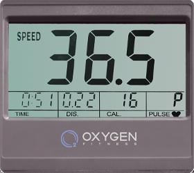 OXYGEN PELICAN II UB Велотренажер - Черно-белый LCD дисплей
