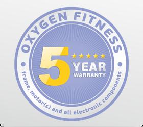 OXYGEN FITNESS NEW CLASSIC ARGENTUM TFT Беговая дорожка - Честная 5-ти летняя гарантия на раму, мотор и все электронные компоненты