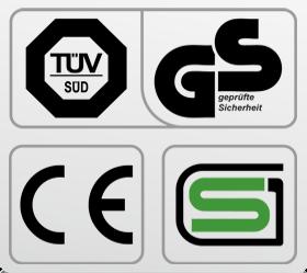 OXYGEN M-CONCEPT SPORT Беговая дорожка - Обязательные сертификаты: европейский CE, немецкий GS TUV, японский SG