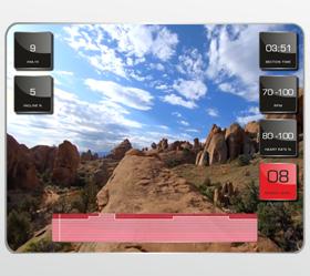 MATRIX T7XI (T7XI-03) Беговая дорожка - Виртуальный ландшафт™ - технология синхронизации тренажера и специально снятых видео роликов