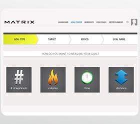 Matrix E7XI (E7XI-03) Эллиптический эргометр - Online сервис Netpulse дает возможность задавать тренировочные цели и следить за их реализацией