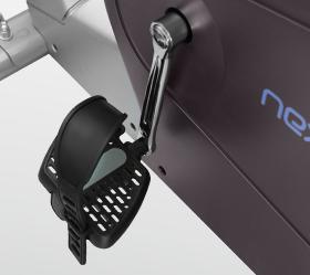 OXYGEN NEXUS GURU UB HRC Велоэргометр - Трехкомпонентный педальный узел и рифленые педали с регулируемыми ремешками