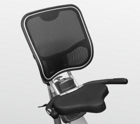 BRONZE GYM R801 LC Велотренажер - Эргономичное дышащее сеточное сидение повышенной комфортности