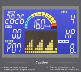 OXYGEN MAGMA II AL HRC Беговая дорожка - Цветной многофункциональный дисплей диагональю 6.5 дюйма (16.5 см.) с профилем тренировок