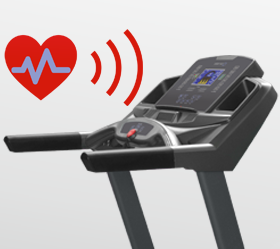 OXYGEN PLASMA III LC HRC Беговая дорожка - Встроенный в консоль беспроводной приемник частоты сердечного пульса