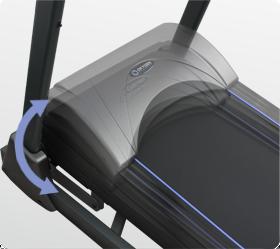 OXYGEN PLASMA III LC TFT HRC Беговая дорожка - Электрически изменяемый угол наклона от 0 до 20%