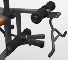 OXYGEN FORT SMITH Силовая скамья - Рычаг и держатель для дисков для упражнений на бицепс