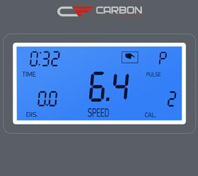 CARBON T406 Беговая дорожка - Голубой LCD дисплей с диагональю 3.2 дюйма (8.2 см.)