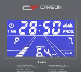 CARBON T606 Беговая дорожка - Голубой многофункциональный LCD дисплей с диагональю 4.9 дюйма (12.5 см.)