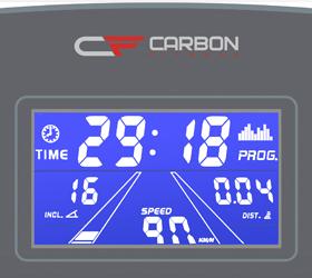 CARBON T756 HRC Беговая дорожка - Голубой многофункциональный LCD дисплей с диагональю 4.9 дюйма (12.5 см.)