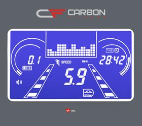 CARBON T806 HRC Беговая дорожка - Голубой многофункциональный LCD дисплей с диагональю 4.9 дюйма (12.5 см.)