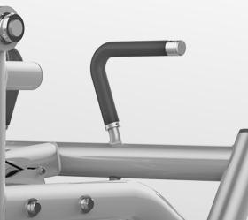 MATRIX MAGNUM MG-405 Обратная гиперэкстензия с дополнительной нагрузкой - Многопозиционные рукоятки для большего комфорта и эргономичности
