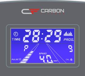 CARBON T706 HRC Беговая дорожка - Голубой многофункциональный LCD дисплей с диагональю 4.9 дюйма (12.5 см.)