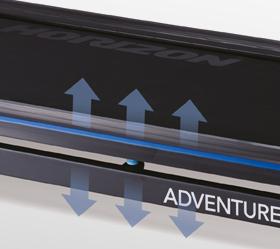 Беговая дорожка Horizon Adventure CS - Технология трехзонной  амортизации Variable Response Cushioning™