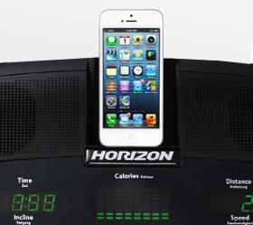 Беговая дорожка Horizon Adventure CL - Удобное размещение вашего смартфона