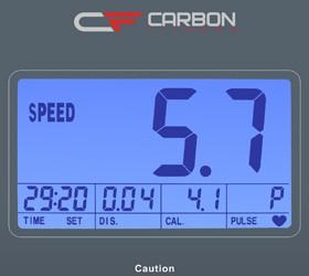 CARBON T507 Беговая дорожка - Голубой многофункциональный LCD дисплей с диагональю 4.9 дюйма (12.5 см.)