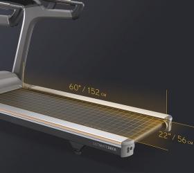 MATRIX T70XIR Беговая дорожка - Беговое полотно размером 152х56 см. идеально подойдет как для продолжительных тренировок и марафонских дистанций, так и интервальных тренировок и взрывных спринтов