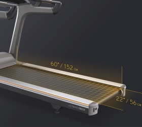 MATRIX T70XR Беговая дорожка - Беговое полотно размером 152х56 см. идеально подойдет как для продолжительных тренировок и марафонских дистанций, так и интервальных тренировок и взрывных спринтов