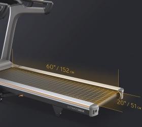 MATRIX TF50XR Беговая дорожка - Беговое полотно размером 152х51 см. идеально подойдет как для продолжительных тренировок и марафонских дистанций, так и интервальных тренировок и взрывных спринтов