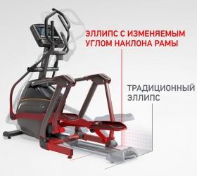 MATRIX A30XR Эллиптический эргометр - Запатентованный дизайн подвесных педалей Suspension Elliptical™ Technology минимизирует любые шумы и трение деталей, обеспечивая сверхпродолжительный срок службы при максимально эффективных кардио тренировках
