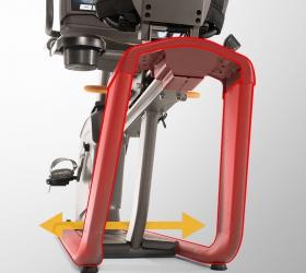 MATRIX R50XR Горизонтальный велоэргометр - Сдвоенные стойки рамы обеспечат максимальную стабильность тренажера