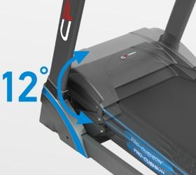 CARBON T656 Беговая дорожка - Электрически изменяемый угол наклона от 0 до 12%