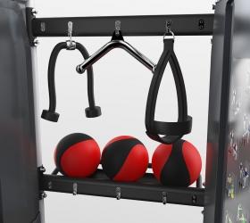Полки и крюки предназначены для размещения и хранения аксессуаров и рукоятей