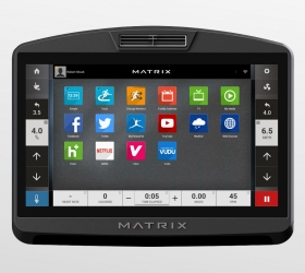 Matrix A7XI (A7XI-03) Эллиптический эргометр - 19-ти дюймовый сенсорный тач TFT-LCD дисплей Vista Clear™ на ОС Android с WI-FI доступом к различным интернет приложениям