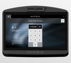 MATRIX T7XI (T7XI-03) Беговая дорожка - xID - личная учетная запись для мониторинга статистики тренировок