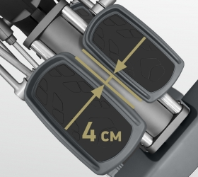 BRONZE GYM X901 PRO Эллиптический эргометр - Супермалый Q-ФАКТОР E.S.Q.F.™ (4 см)