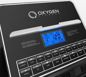 OXYGEN WIDER T25 Беговая дорожка - Многофункциональный дисплей диагональю 12 см с голубой подсветкой