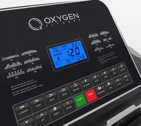 OXYGEN WIDER T35 Беговая дорожка - Многофункциональный дисплей диагональю 12 см с голубой подсветкой