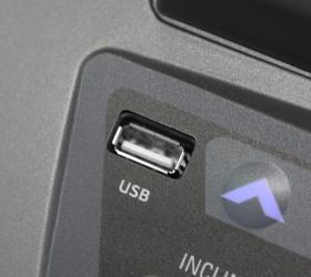 OXYGEN VILLA DELUXE III AL Беговая дорожка - USB вход для прослушивания музыки и зарядки мобильного устройства
