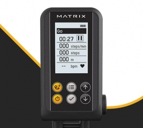 Matrix S-FORCE Performance Trainer - Регулируемая консоль с подсветкой выводит на экран все основные показатели. Быстрое переключение между программами Sprint 8, интервальной и целевыми программами