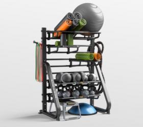 MATRIX CONNEXUS GFTORG Стационарная стойка для аксессуаров - Отличное решение для хранения широкого спектра аксессуаров для функционального тренинга: от легких до тяжелых